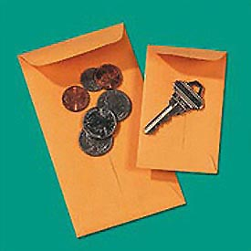Kraft Coin/Small Parts Envelopes, 28-lb., Size #5, 2-7/8 x 5-1/4, 500/Box