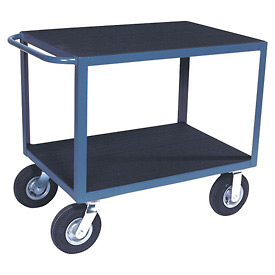 """Vinyl Matted Standard Handle Cart w/ 5"""" Poly Casters - 18 x 30"""