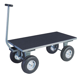 "Vinyl Matted Pull Wagon w/ 12"" Rubber Casters - 24 x 48"