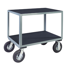 "Vinyl Matted No Handle Cart w/ 5"" Poly Casters - 24 x 30"