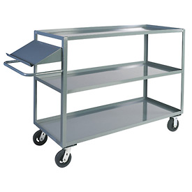 Jamco 3 Shelf Stock Truck with Writing Stand Handle CO372 30 x 72