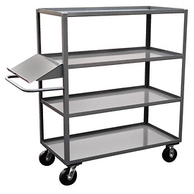 Jamco 4 Shelf Stock Truck with Writing Stand Handle DO248 24 x 48