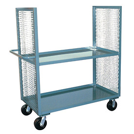 Jamco 2 Sided Mesh Truck EB236 with 2 Shelves 24 x 36