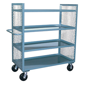 Jamco 2 Sided Mesh Truck ED236 with 4 Shelves 24 x 36