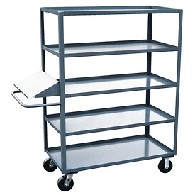 Jamco 5 Shelf Stock Truck with Writing Stand Handle EO348 30 x 48