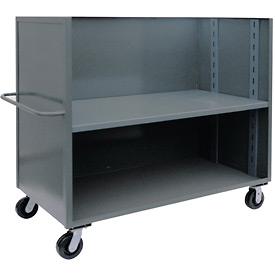 Jamco 3 Sided Solid Truck FR472 with 1 Adjustable Shelf 36 x 72