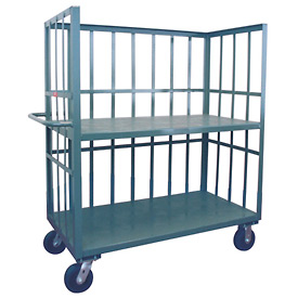 Jamco 3 Sided Slat Truck HB472 with 2 Shelves 36 x 72