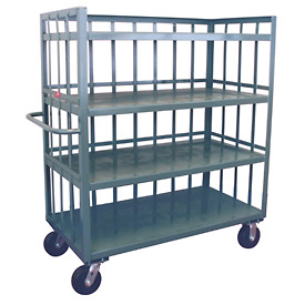 Jamco 3 Sided Slat Truck HD272 24 x 72 with 4 Shelves