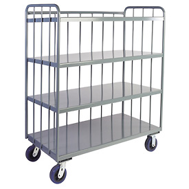 Jamco Sloped 3 Sided Rod Truck HR260 24 x 60 with 4 Shelves