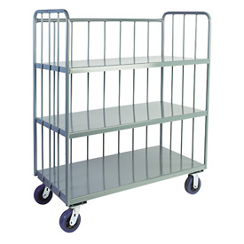 Jamco Sloped 3 Sided Rod Truck HS260 24 x 60 with 3 Shelves
