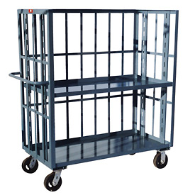 Jamco 3 Sided Slat Truck HZ348 30 x 48 1 Adjustable & 1 Fixed Shelf