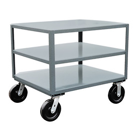 Jamco 3 Shelf Reinforced Mobile Table LE448 - 36 x 48 4800 Lb.