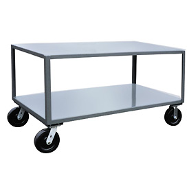 Jamco 2 Shelf Reinforced Mobile Table LW372 - 30 x 72 4800 Lb.