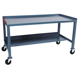 Mobile Steel Workbench - 36 x 72