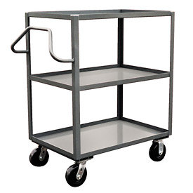 Jamco Ergonomic Handled 3 Shelf Stock Truck NC236 24 x 36