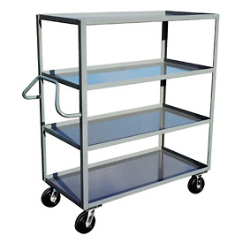 Jamco Ergonomic Handled 4 Shelf Stock Truck ND372 30 x 72