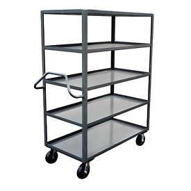 Jamco Ergonomic Handled 5 Shelf Stock Truck NE472 36 x 72