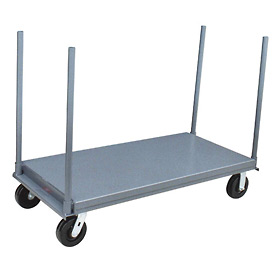 "Jamco Platform Truck with (4) 30"" Stakes PD248 - 24 x 48 - 2000 Lb. Capacity"