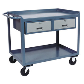 Two Drawer Mobile Service Bench - 24 x 48