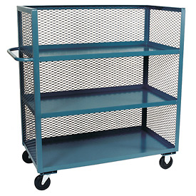 Jamco 3 Sided Mesh Truck ZC272 with 3 Shelves 24 x 72