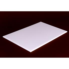 Reversible White Poly Cutting Board with Hand Slot 17X10