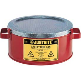 Justrite® 10376 1 Gallon Steel Drip Can