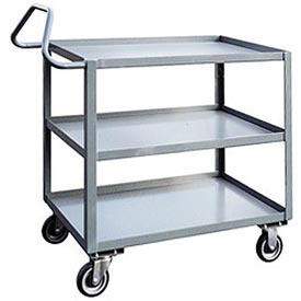 Jamco 3 Shelf Ergonomic Service Cart ET248 1200 Lb Capacity 24 x 48