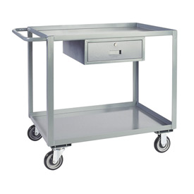 Jamco Service Cart with Drawer LK372 1200 Lb. Capacity 30 x 72