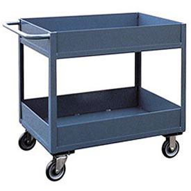 "Jamco 6"" Lip 2 Shelf Service Cart LS136 1200 Lb. Capacity 18 x 36"