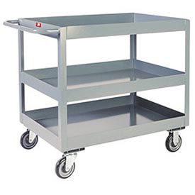 "Jamco 3"" Lip 3 Shelf Service Cart NR230 2400 Lb. Capacity 24 x 36"