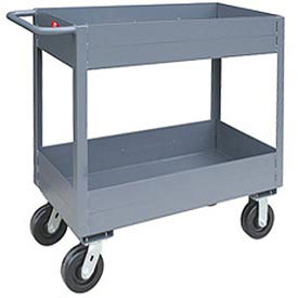 "Jamco 6"" Lip 2 Shelf Service Cart NS230 2400 Lb. Capacity 24 x 30"