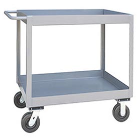 "Jamco 3"" Lip 2 Shelf Service Cart NT136 2400 Lb. Capacity 18 x 36"
