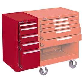 """Kennedy® 185R 18"""" 5-Drawer Hang-On Cabinet - Red"""