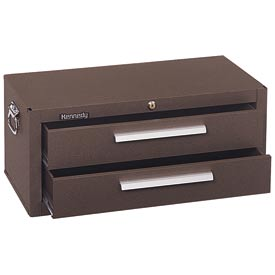 "Kennedy® 2602B 26"" 2-Drawer Add-On Base w/ Friction Slides - Brown"