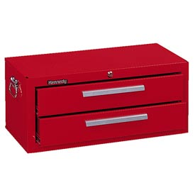 """Kennedy® 2602R 26"""" 2-Drawer Add-On Base w/ Friction Slides - Red"""