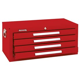 "Kennedy® 2604R 26"" 4-Drawer Add-On Base w/ Friction Slides - Red"