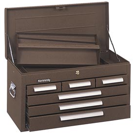 "Kennedy® 266B 26"" 6-Drawer Mechanics Chest - Brown"