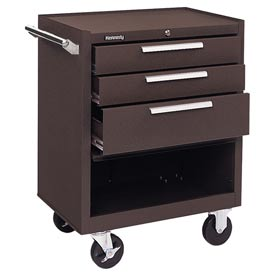 "Kennedy® 273XB 27"" 3-Drawer Roller Cabinet w/ Ball Bearing Slides - Brown"