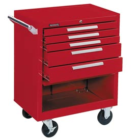 "Kennedy® 275XR 27"" 5-Drawer Roller Cabinet w/ Ball Bearing Slides - Red"