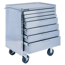 Kennedy® 28087 7-Drawer Stainless Steel Roller Cabinet - Class 100 Cleanroom