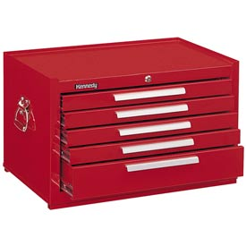 "Kennedy® 285R 27"" 5-Drawer Mechanics Chest w/ Friction Slides - Red"