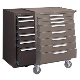 """Kennedy® 306XB 20"""" 6-Drawer Hang-On Cabinet - Brown"""