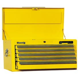 "Kennedy® 3400MPYW 34"" 5-Drawer Maintenance Chest - Yellow"