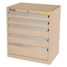 Kennedy 5-Drawer Hybrid Modular Cabinet w/Full Extension Drawers-29x20x31, Tan