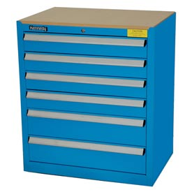 Kennedy 6-Drawer Hybrid Modular Cabinet w/Full Extension Drawers-29x20x31,U Blue