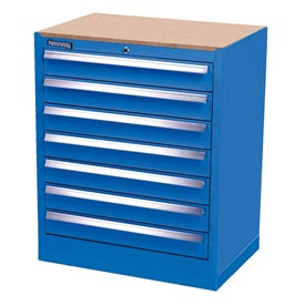 Kennedy 7-Drawer Hybrid Modular Cabinet w/Full Extension Drawers-29x20x31,U Blue