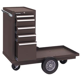 "Kennedy® 415XB 41"" 5-Drawer Versa-Cart w/ Ball Bearing Slides - Brown"
