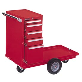 "Kennedy® 435XR 43"" 5-Drawer Versa-Cart w/ Ball Bearing Slides - Red"