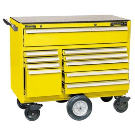 "Kennedy® 4400MPYW 44"" 10-Drawer Roller Cabinet - Yellow"