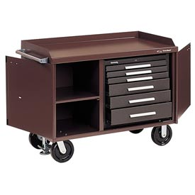 "Kennedy® 4806B 48"" 6-Drawer Industrial Mobile Bench - Brown"